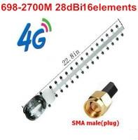 4G High Gain Yagi Antenna 28dBi 16 Elements 698 2700MHz Yagi Antenna LTE 4G Router Outdoor
