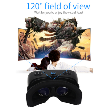 5.5' 3G RAM Android 2K HD Wifi HDMI Video Box Smart Glasses Virtual Reality All In One VR Headset 3D Glasses With VR Controller 2