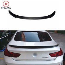 F06 Carbon Fiber Spoiler V Style For BMW Gran Coupe 6 series Rear trunk spoiler wing 2012 2013 2014 2015 2016 2017+