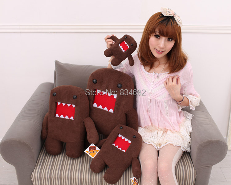J.G Chen Domokun Funny Domo-kun Doll Children Creative Gift the Kawaii Domo Kun Plush Toys for Baby Boy Girl Kids 18-52CM 8 cm domo kun plush toys phone charm pendant lanyard doll bag key chain domokun funny kawaii plush toy