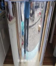 Effet miroir mur de papier peint papier argent papier peint réfléchissante autocollants pvc autocollants meubles film fond d'écran or argent