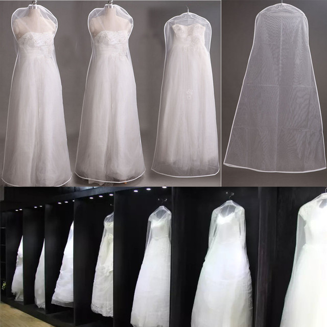 Foldable Yarn Dustproof Wedding Gowns Cover Prom Dresses Garment Storage Bag Wardrobe Clothes Protective Laundry