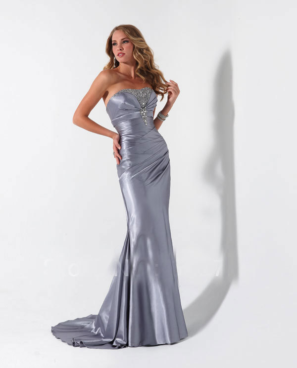 Popular Silver Satin Dress-Buy Cheap Silver Satin Dress lots from ...