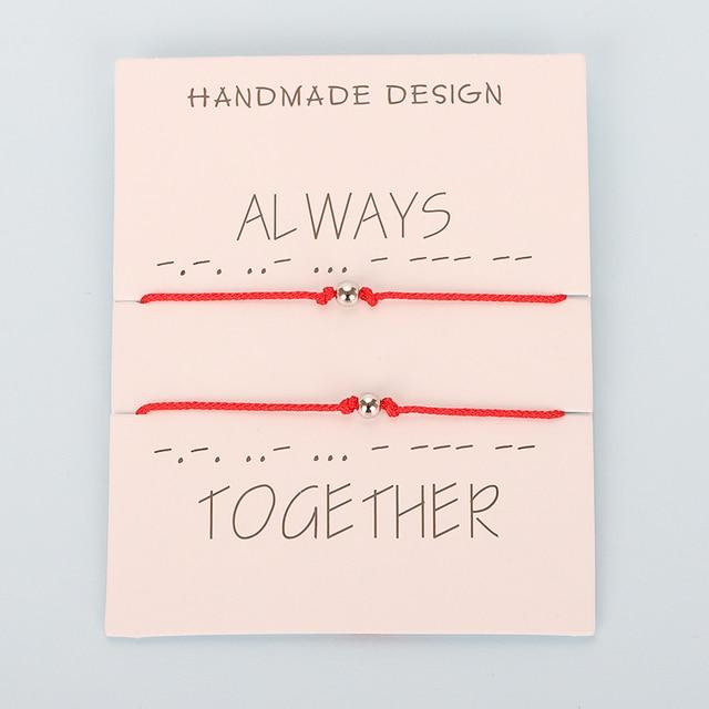 Bracelet Couple Cordon Rouge
