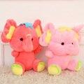 18 CM 7 ''Lindo Elefante con grandes orejas de peluche de juguete Muñeca de Dibujos Animados animales Bebé de Juguete para Niños Regalos Regalos de Boda juguetes ventas Calientes