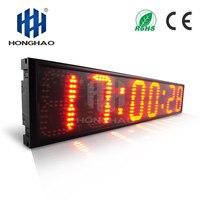 Honghao 6 6 цифр светодиодный открытый большой Stpwatch цифровым таймером обратного отсчета для спорта конференции Race Таймер пульт дистанционного