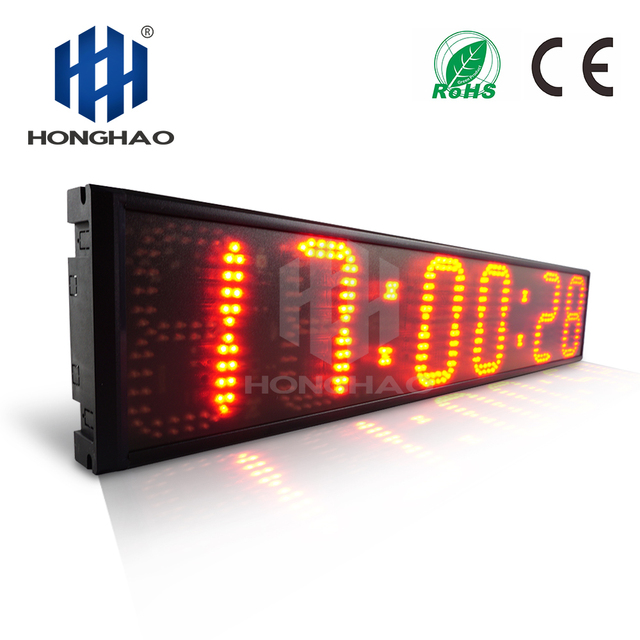 """Honghao 6"""" 6 Digit LED Outdoor Large Stpwatch Timer Digital Countdown Timer For Sport Conference Race Timer Remote"""
