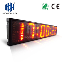 Honghao 6 6 Digit LED Outdoor Large Stpwatch Timer Digital Countdown Timer For Sport Conference Race Timer Remote