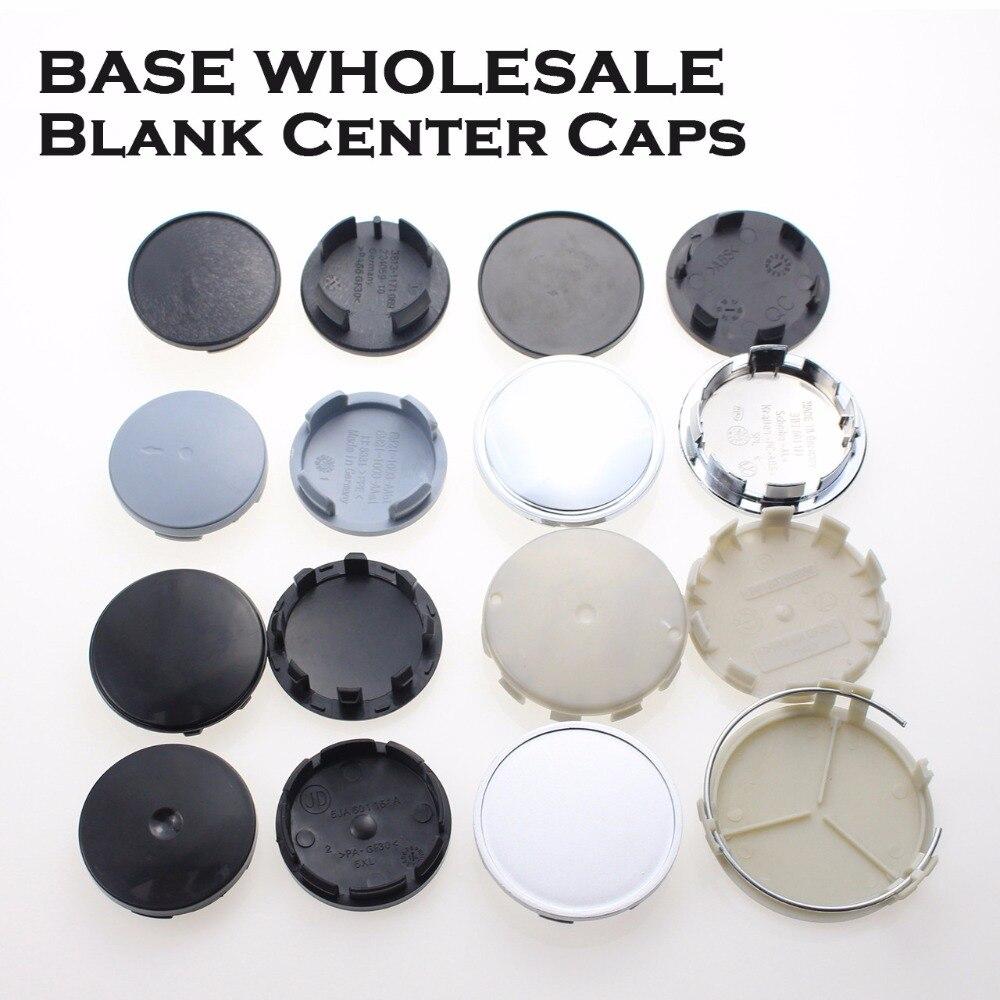 Wholesale Blank No Logo Badge Center Caps For Rims Car Accessory Wheel Hubcaps Plastic Base For Volkswagen Ford MINI KOM POWER