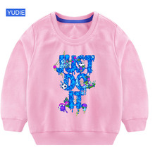 Sell Well Kids Cute Cotton Long Sleeve Tops Cartoon Anime Boy Girl Breathable Comfort T Shirt Funny YUDIE