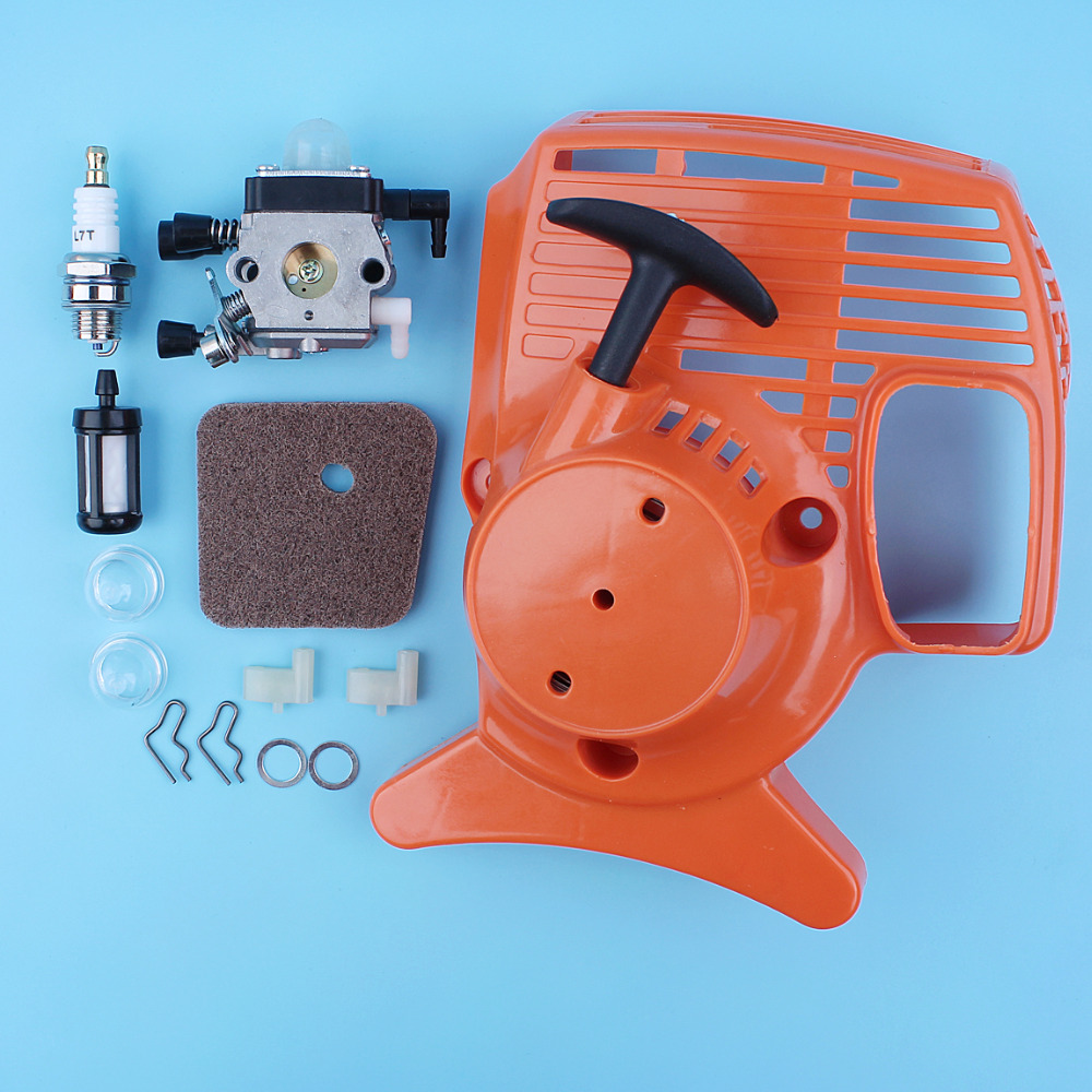 Recoil Pull Starter <font><b>Carburetor</b></font> Kit <font><b>For</b></font> <font><b>Stihl</b></font> <font><b>FS38</b></font> <font><b>FS45</b></font> FS55 FS46 FS55R FC55 HL45 KM55 Trimmer Brushcutter Replacement Spare Part image