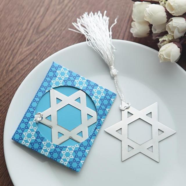 the star of david bookmark novelty israel themed wedding bridal shower gifts party favors present