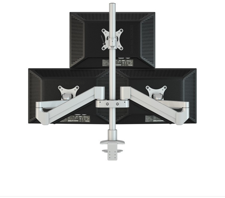 Hyvarwey M2037 Desktop Triple Monitor Holder Support Aluminum Full Motion Triple Monitor Arm Loading 16kgs with