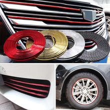 4M/8M Styling Moulding Car Bumper Trim Strip Wheel Hub Protection Ring Adhesive Grille Impact Decorative Accessories