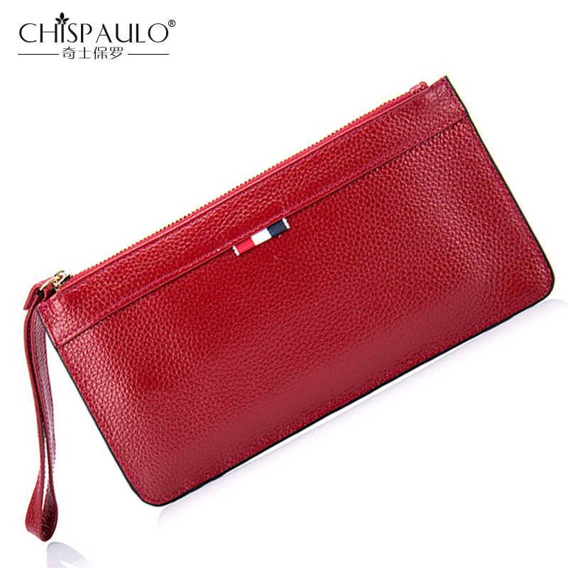 941c60529 2018 Genuine Leather Women Wallets High Quality Zipper Ladies Coin Purse  Female Clutch Bag Money Credit
