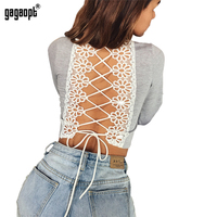 Gagaopt 2018 Autumn Sexy Sweatshirt Stitching Lace ...