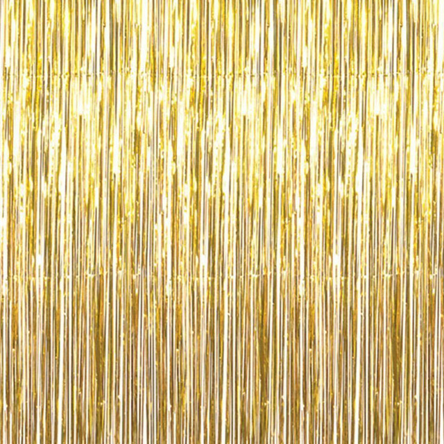 Metallic Gold Silver Foil Fringe Curtain Tinsel String