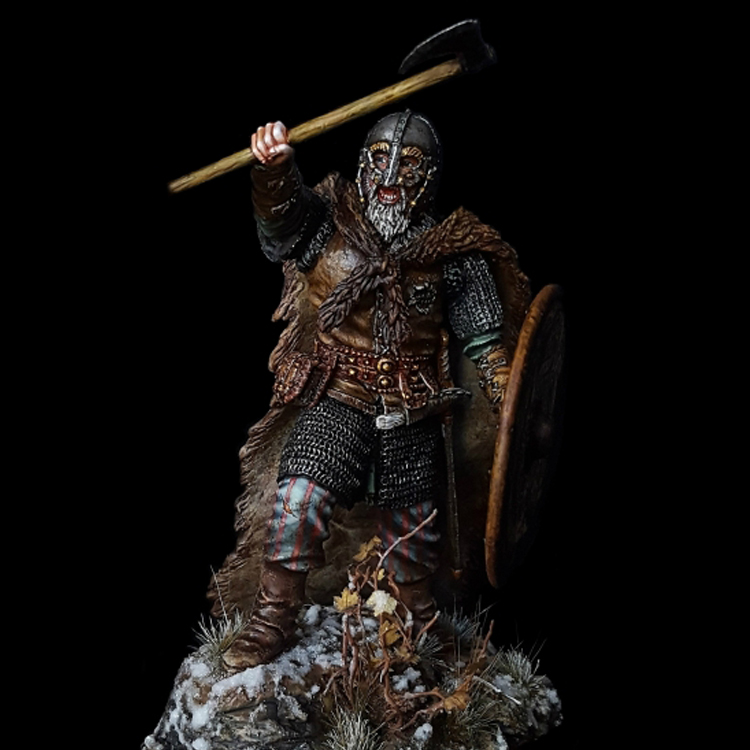 1/24 Viking, Resin Model Figure GK, Ancient War Characters, Unassembled And Unpainted Kit
