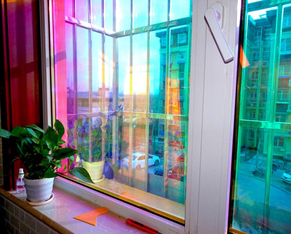 Frohe Weihnachten umweltschutz Haushalt Zimmer Glas Tönung Film Wandbild Decor Aufkleber Abnehmbare fenster aufkleber weihnachten - 4