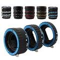 Vermelho Azul Ouro Prata Black Metal Monte Foco Automático AF Macro anel adaptador tubo de extensão para canon eos lente ef-s 70d 550d 600D