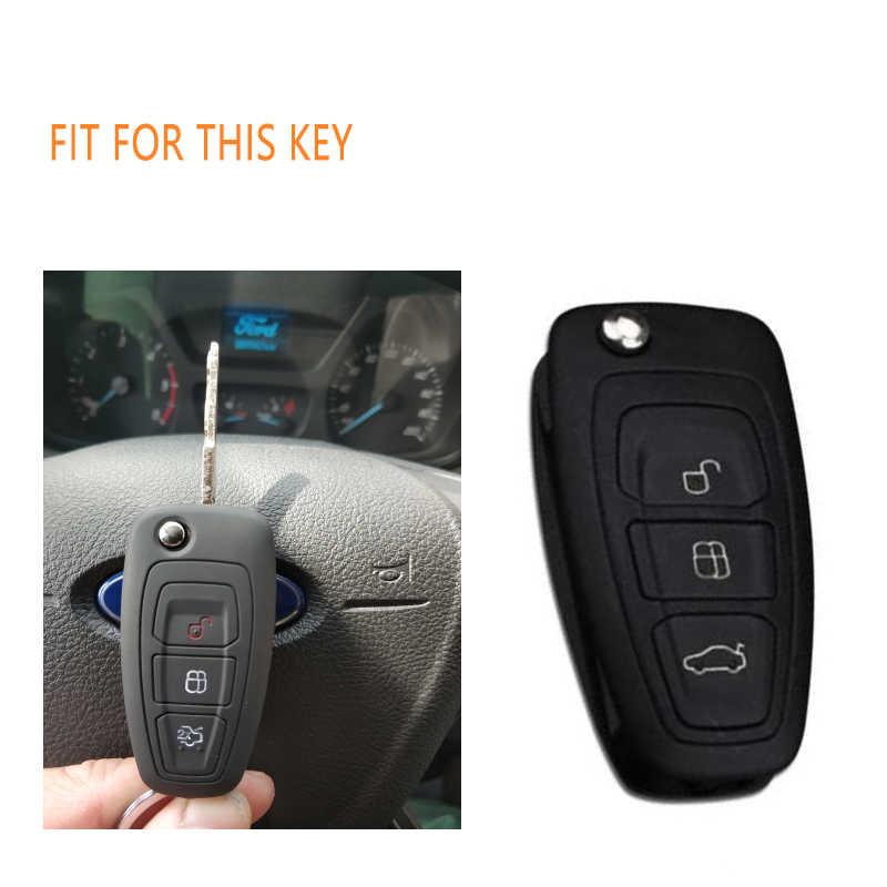 Silicone caso capa chave do carro escudo para ford ranger grand c-max s-max foco galaxy mondeo trânsito tourneo ranger personalizado