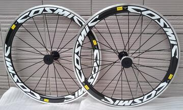 Cheap width 23mm mixed carbon road bike clincher wheels front wheel 50mm rear wheel 60mm OEM decal