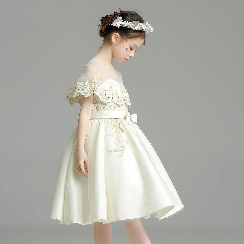 Tutu Appliques Princess Dress with Bowknot Girls Pageant Dress Wedding Birthday Party Ball Gown Short Flower Girl Dresses цена