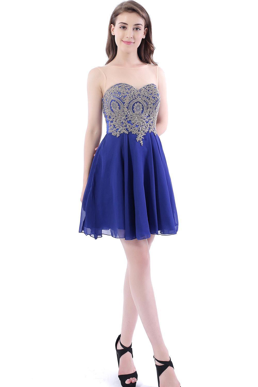 43dd66fcad7 Vestido Curto Sexy Backless Royal Blue Lace Short Homecoming Dresses 2016  Real Image Chiffon Short 8th Grade Prom Dresses
