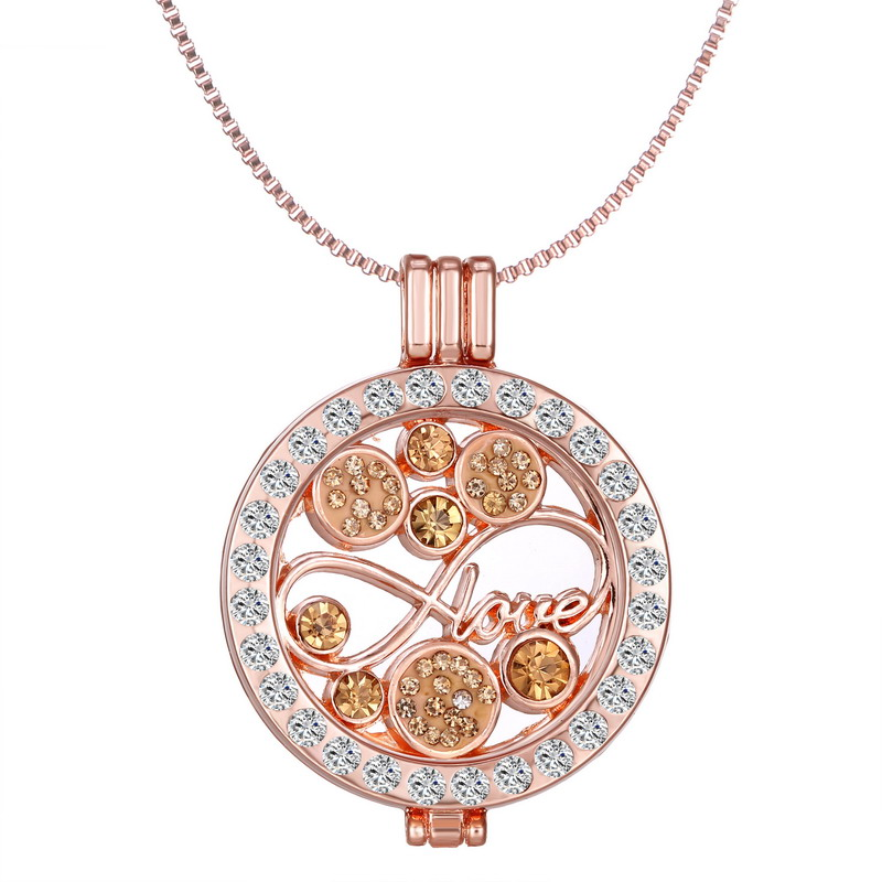 Interchangeable Disc Necklace: Charms My Coins Disc Floating Frame 60cm Necklace Pendant