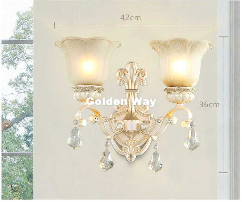 Modern European Beside Wall Sconce Decora Candle Wall Lamp Restaurant aisle Bedroom Lamps Indoor Modern Lights Home Decoration