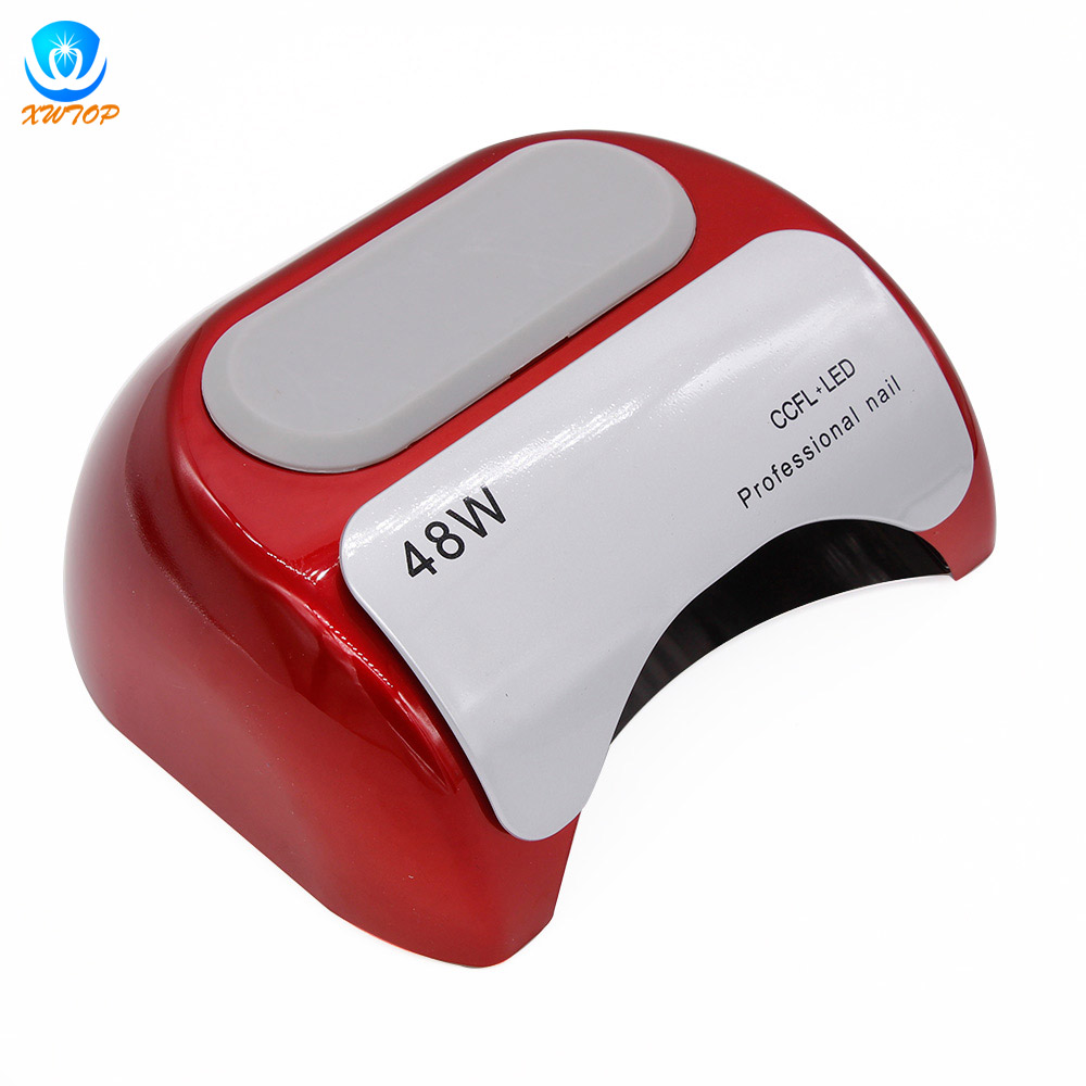 48W LED CCFL Nail Dryer Timer Curing Lamp Light For UV Gel Polish US/EU Plug 48w nail polish gel art tools professional ccfl led uv lamp light 110 220v nail dryer automatic induction 10s 20s 30s timer