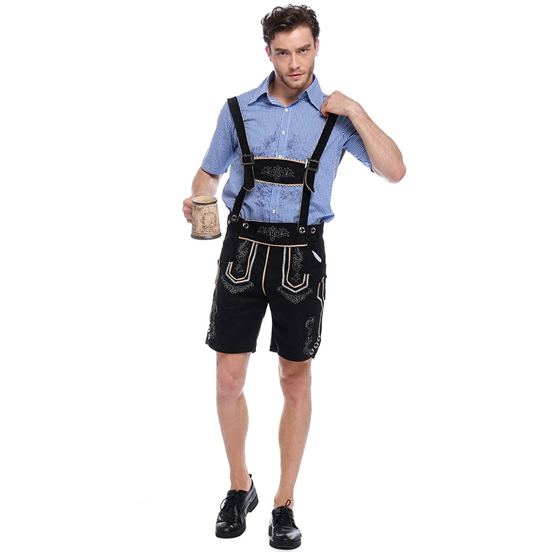 Bière allemande homme Costumes adulte allemand bavarois Oktoberfest Costume hommes Halloween Cosplay Costumes