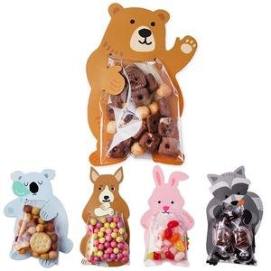 10pcs/lot Cute Animal Bear Rabbit Koala Candy Bags Greeting Cards Cookie Bags Gift Bags Baby Shower Birthday Party Decoration(China)