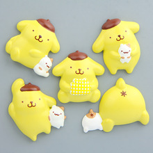 (5  pieces / lot)sanrio pudding dog @ white creative three-dimensional magnetic buckle refrigerator