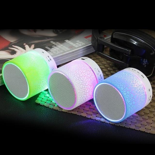 Беспроводной светодио дный светодиодный Bluetooth динамик мини TF USB FM динамик s музыкальный аудио ручной Бесплатный громкоговорители сабвуфера для телефона с микрофоном