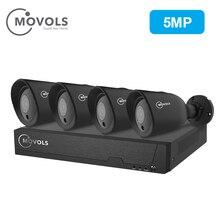 MOVOLS 5MP H.265 CCTV Камера безопасности Системы комплект 4 Камера Открытый ИК для камеры наблюдения Системы 8ch DVR Наборы
