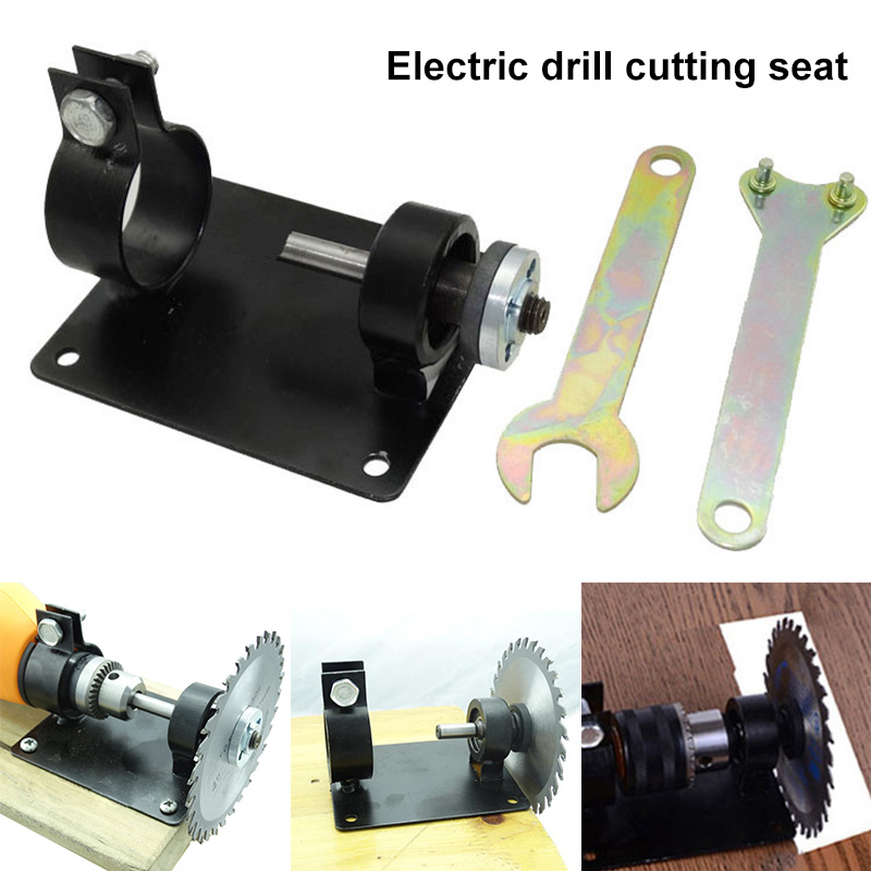 13mm/10mm Electric Drill Cutting Holder Polishing Grinding Bracket Seat Stand Drilling Machine Base WWOo