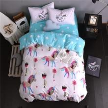 Svetanya Doona Duvet Cover+Pillowcases Deer Cartoon Kids Adults Bedding Sets Twin Full Queen King Size Cotton