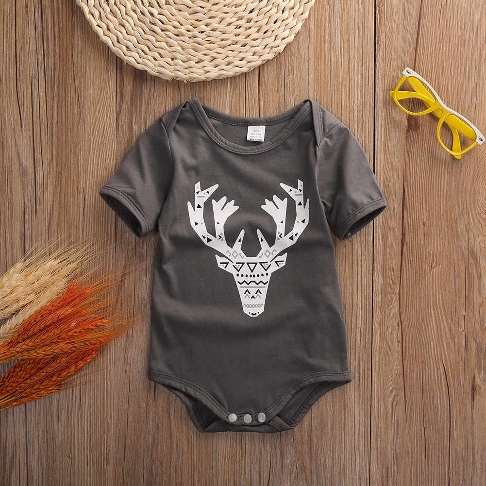 99413f9b0 ... Newborn Baby Cute Deer Onesie bodysuit jumpsuit Pyjamas Outfit Infant  Toddler Boy Clothing One-pieces ...