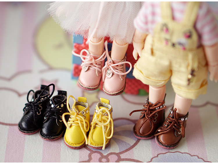 New OB11 Boots Doll Rivets Boots Shoes OB11  Leather Shoes  (suitable For Ob11,obitsu11,Middle Blyth,cu-poche)