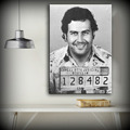 Free shipping Large size Printing Oil Painting Pablo Escobar Mug Shot 1991 Vertical Wall painting Decor Wall Art Picture