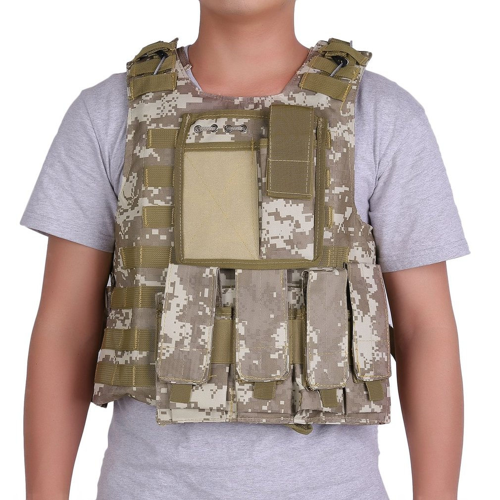 OUTAD US Stock Army Tactical Military Hunting Molle Combat Assault Carrier Vest Adjustable Top Outdoor Game Equipment