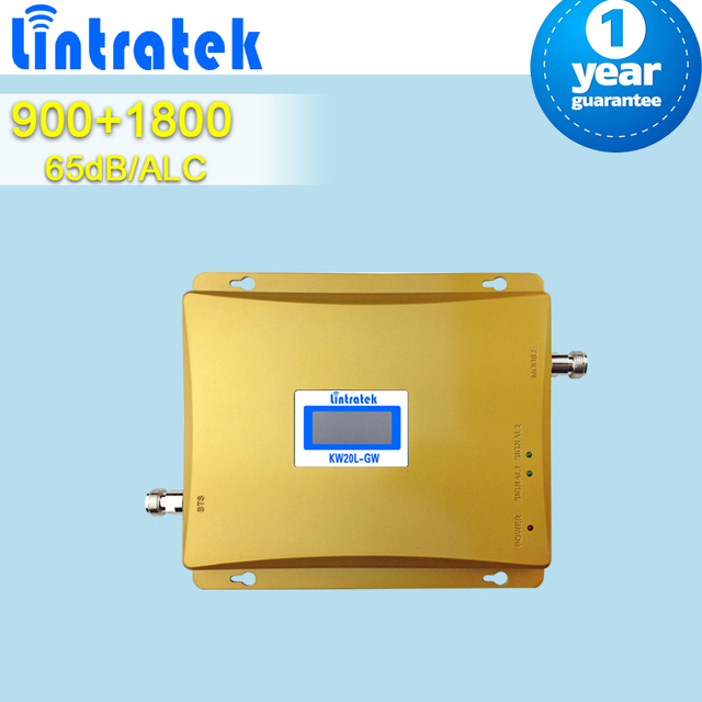 Pantalla LCD envío gratis GSM 900 DCS 1800 alta ganancia del amplificador de señal booster repetidores de telefonía móvil para 2 ~ 3 habitaciones