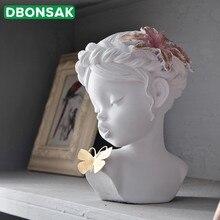 Ангел милые украшения для девочек домашние настольные украшения из смолы минималистичный милый целующийся ребенок с бабочкой любовь и удача лучший подарок