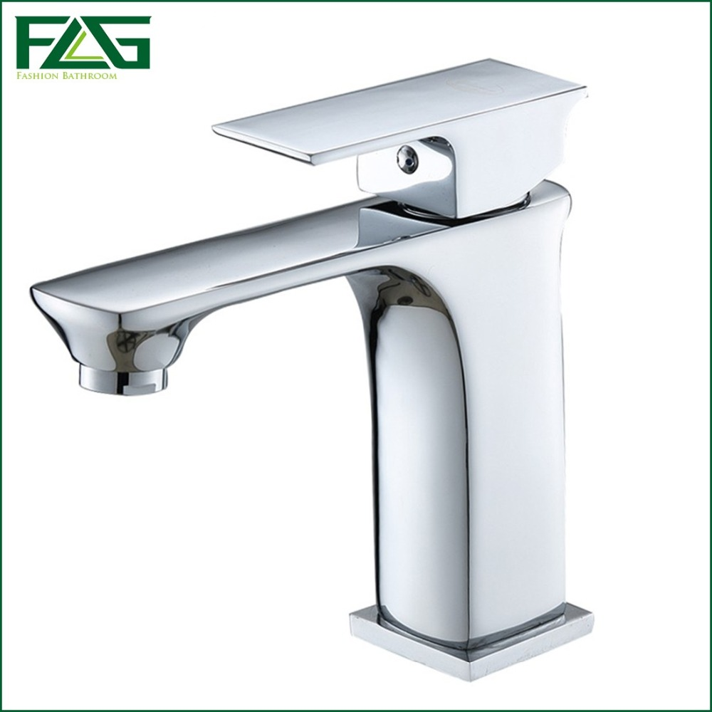 Hot and cold water faucet for outdoor sink - Flg European Basin Faucet Deck Mounted Ceramic Plate Spool Cold Hot Chrome Cast 2 Bathroom