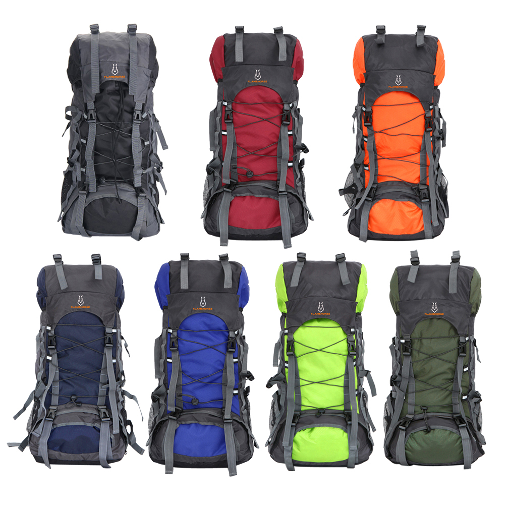 ФОТО Large Capacity 56L-75L Men and Women Nylon Waterproof Oxford Travel Bag Outdoor Camping Hiking Mountaineering Luggage Bag BHU2