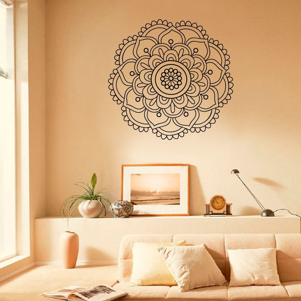 Mandala wall decal yoga studio wall sticker decals for Aita studio home decoration