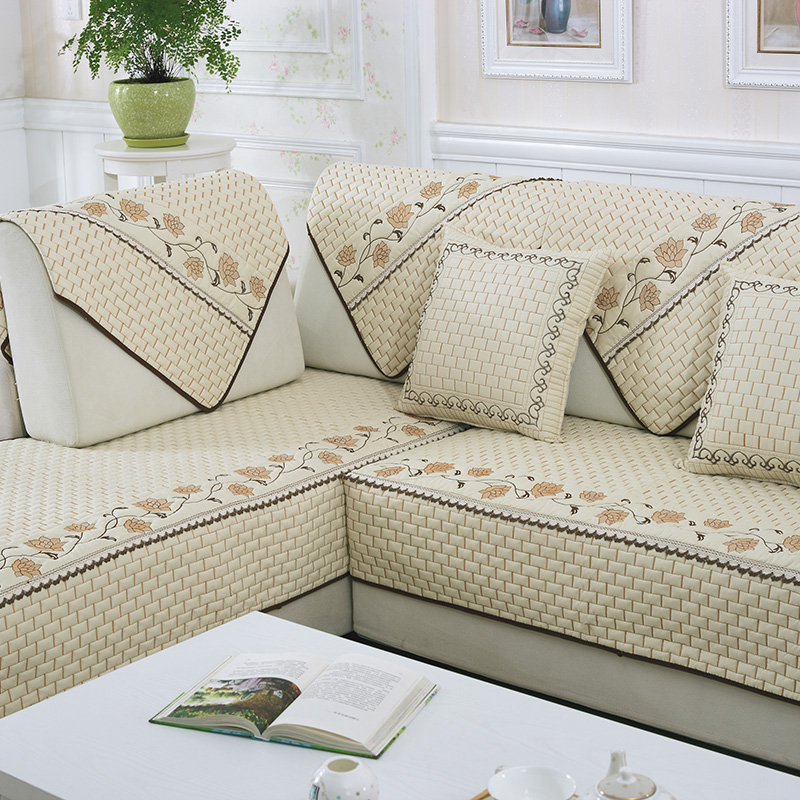 100% Cotton Sofa Towel Four Seasons Sofa Cover Slip Resistant Sofa Towel  Fashion Brief Modern Rustic