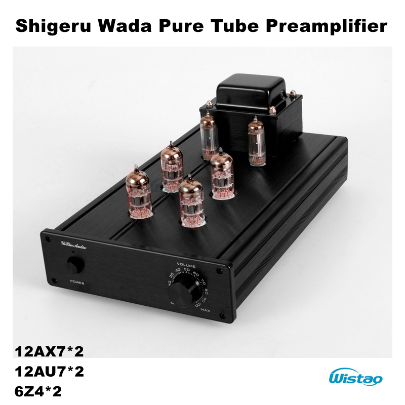 Tube Preamplifier Pure with Shigeru Wada Circuit Tube 12AX7 12AU7 6Z4 Rectifier Whole Aluminum Chassis HIFI Audio 110V/220V