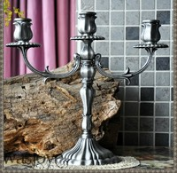 3 light retro classic candle candelabra metal candle stand moroccan decor silver candelabra for home decoration ZT076t